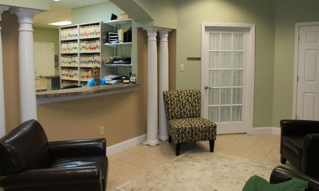 front desk and waiting room | cosmetic dentist harleysville pa